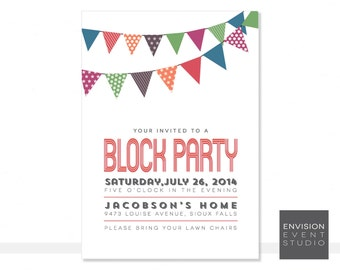 Printable Block Party Invitation