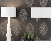 Damask Wall Stencils Pattern Large Size Reusable Wall Stencil for DIY Wallpaper