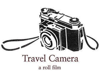 Travel Camera stencils for Crafting Wall art decor Reusable Template