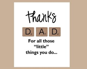 Fathers Day Card - Thanks Dad Card - Lucky Dad Card