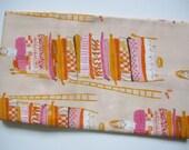 RARE OOP Heather Ross Far Far Away1 peach princess and the pea fabric