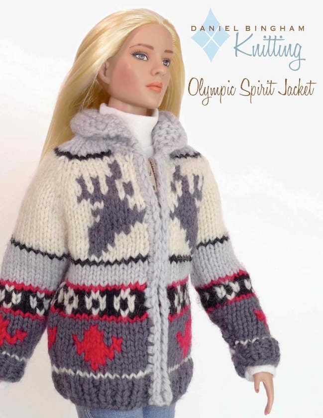 Knitting Patterns For 16 Inch Dolls : Knitting pattern for 16 inch fashion dolls: Olympic Spirit