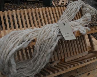 handspun lambs wool yarn 2 ply skein 004