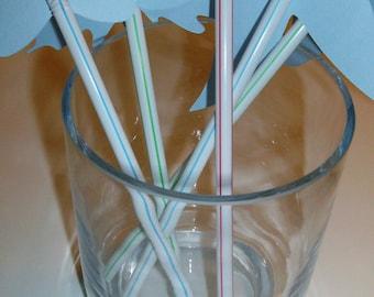 Straws, Party Favor  Birthday Party, Baby Shower Little Man Mustache Lip #24 straws (919S)