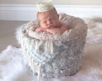 Newborn Crown. Newborn Prop. Crown. Lace crown. Birthday crown.
