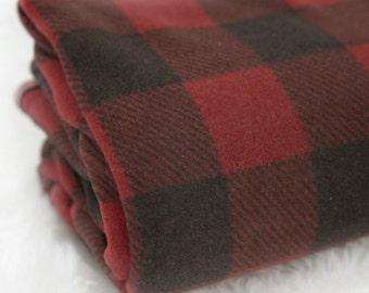 Fleece Fabric Plaid By The Yard