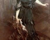Lady in black   CROSS STITCH PATTERN 173