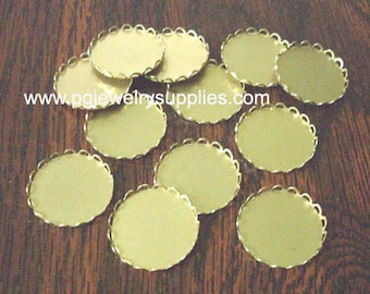 18mm round brass lace edge cameo cabochon settings 12 pieces l