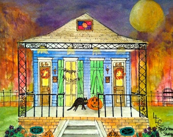 New Orleans Shotgun House Halloween I