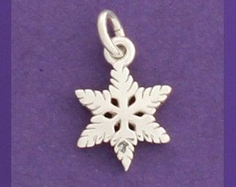 Feathery Snowflake Charm