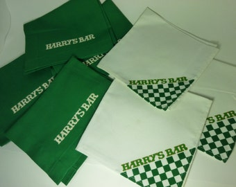 Harry's Bar Place mats and Napkins-  4 Each