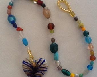 Wacky heart suncatcher (blue)