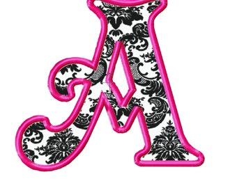 Victorian Machine Embroidery design Font applique