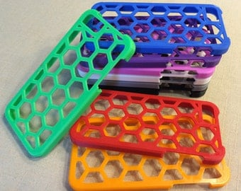 3d Printed Honeycomb Hexagon Case for iPhone 5 or 5s