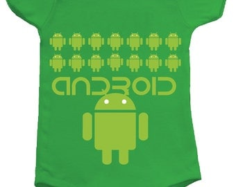 Android BodySuit - available in many sizes and colors for newborns, babies and toddlers