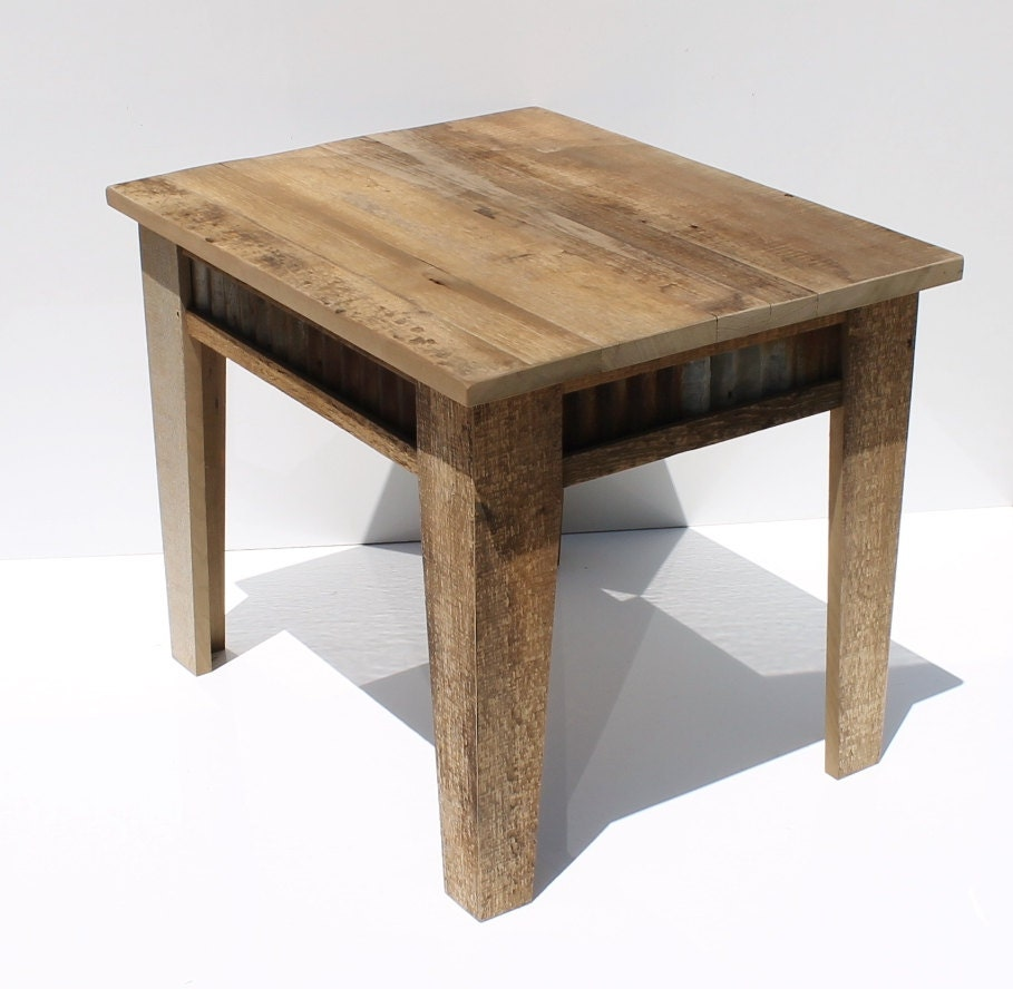 Rustic Wood Side Table ~ Rustic end table night stand or side reclaimed by