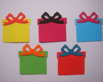 15 Gift Box die cuts for Birthday cards toppers cardmaking scrapbooking craft projects ready to post