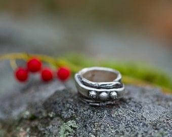 Wide Fine Silver Ring