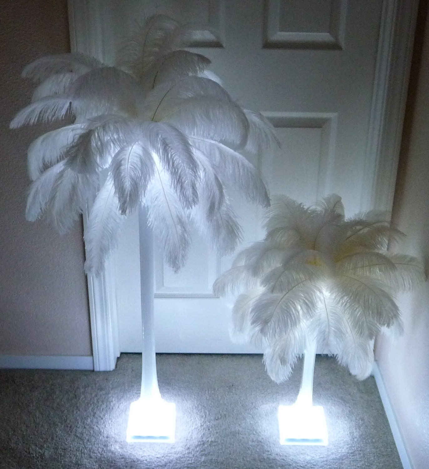 Ostrich feather centerpiece inch by cheek cheekboutique