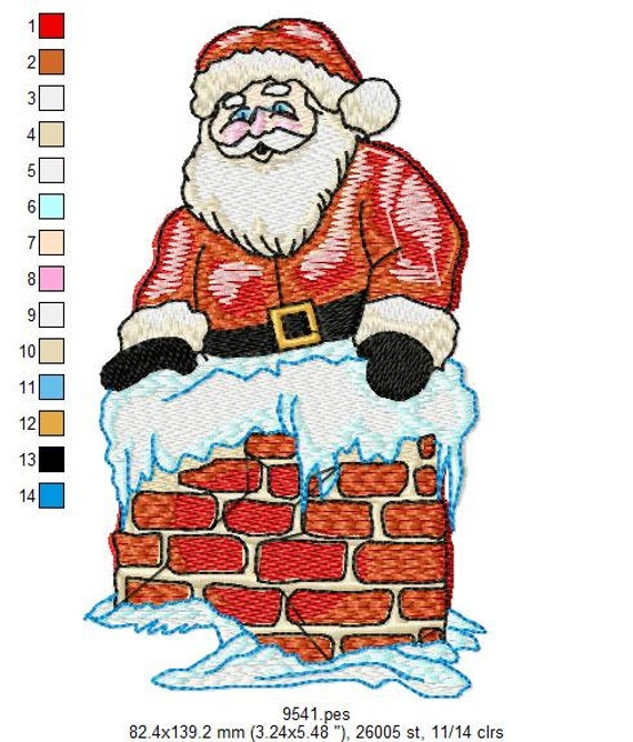 Jumbo Santas Embroidery Designs - PES