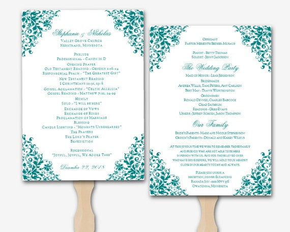 Wedding Program Templates For Word