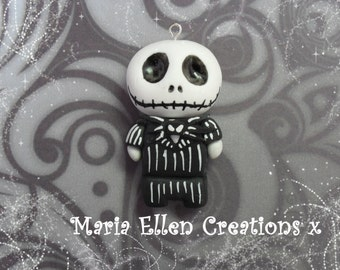 Jack Skellington The Nightmare Before Christmas polymer clay charm