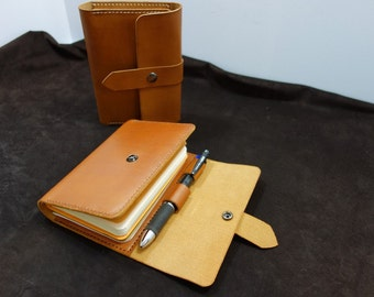 Leather Pocket Moleskine - Moleskine Cover - Holds a Pocket Moleskine and a Field Notes
