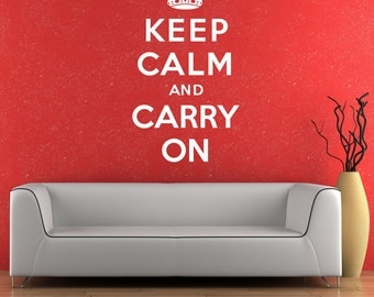 Keep Calm And Carry On Wall Sticker Decal Vinyl Transfer Home Quote Art Decoration