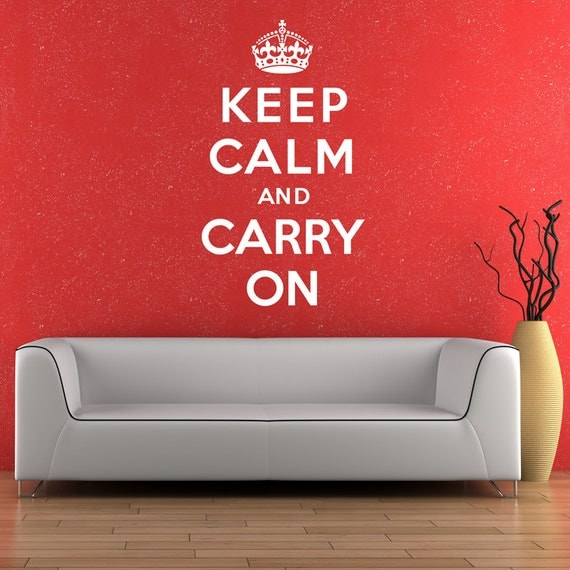Keep Calm And Carry On Wall Sticker Decal Vinyl Transfer Home