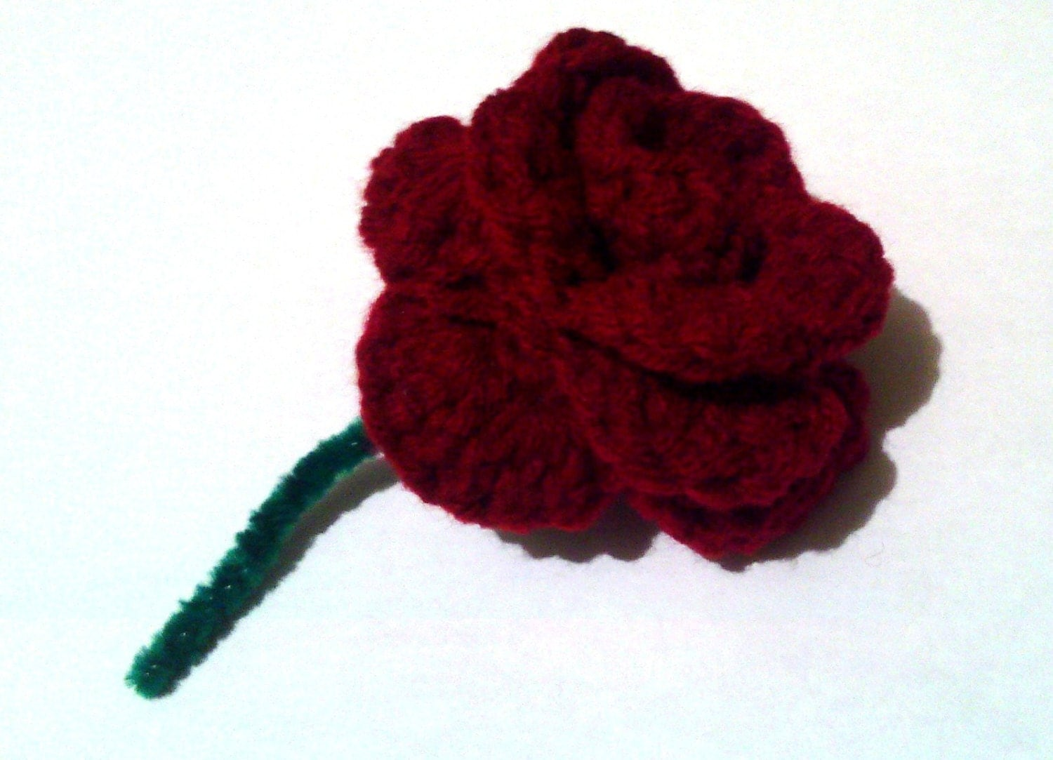 Crochet Rose Pattern No Sew : No Sewing Required Crochet Rose PATTERN
