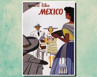 You'll Like MEXICO - Vintage Travel Poster - 1929 - United States SG142