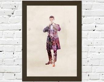0036 Dr Who Matt Smith A3 Wall Art Print Multiple Sizes