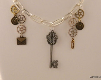 Industrial Chic Charm necklace
