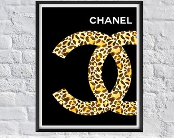 popular items for chanel watercolor on etsy