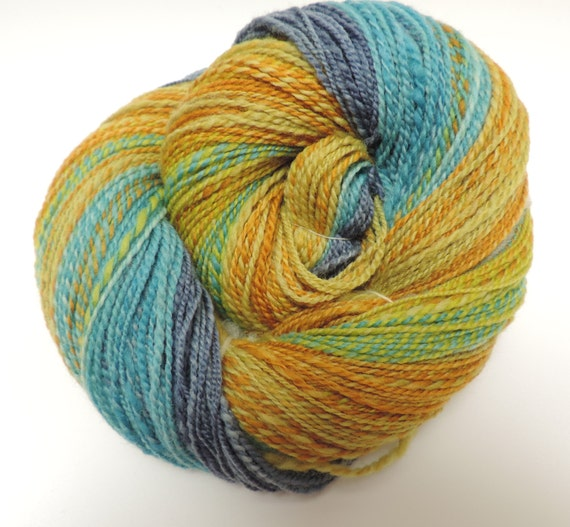 handspun yarn, fingering, Lucan,3,24oz,362yard