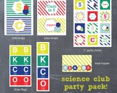 Science or Chemistry Printable Party Pack