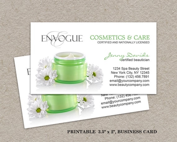 Items similar to Skin Care Business Cards, Cosmetics Business ...