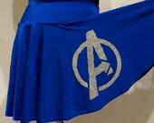 Avengers Glitter Running Skirt (You pick the color combination)
