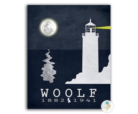 Virginia Woolf To the Lighthouse - Literature Poster Literature Art Print Book Art Classic Literature Decor - Multiple Sizes