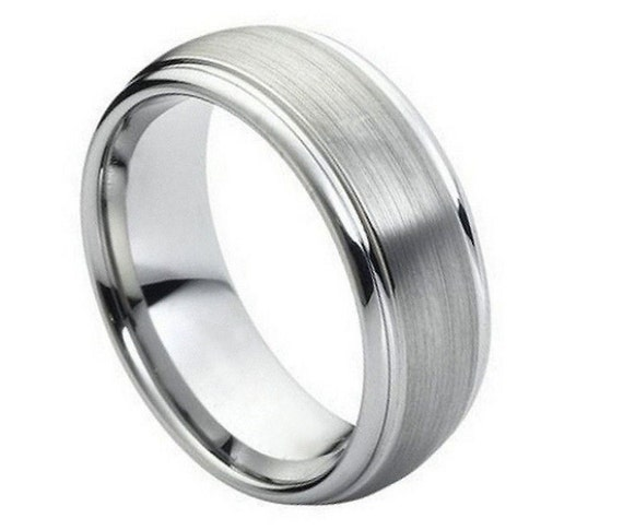 Items Similar To MENS TUNGSTEN RING Wedding Band Sizes 5 15 On Etsy