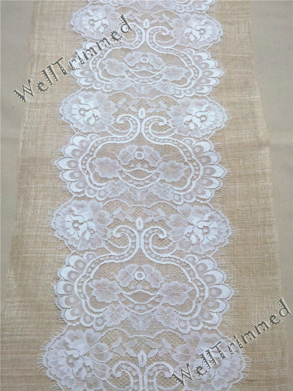 10ft lace table runner 11 wide lace table runner lace for 10 ft table runner