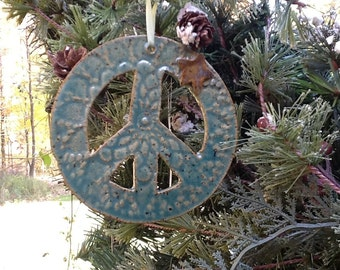 Christmas - Holiday Ornament:  Peace Sign