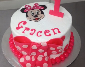 Minnie Mouse and Bow Birthday Set