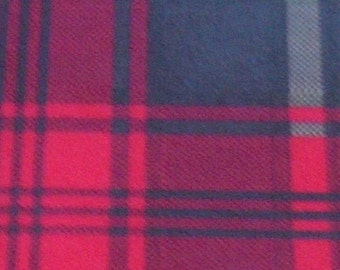 Iron on Tartan print flock sheet