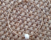 1 Allegra Fanjul Handmade White Bone Bead Bangle.