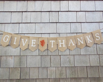 Items Similar To Happy Thanksgiving Burlap Banner Burlap