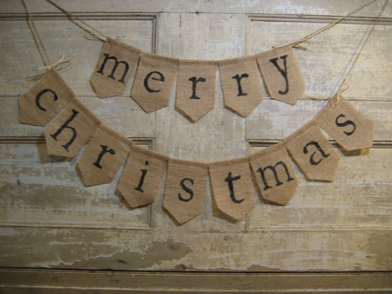 Ready To Ship Merry Christmas Banner Bunting