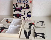 Vintage spel Animo van  Jumbo uit 1974, combineerspel van dieren, mooie verschillende plaatjes en kaartjes