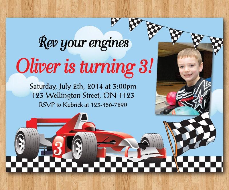 race car birthday invitations | wblqual, Birthday invitations