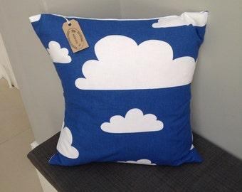 "Scandinavian farg and form cloud blue white 16"" cushion cover"